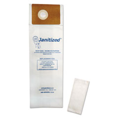 Janitized® Vacuum Filter Bags Designed to Fit Advance Spectrum CarpetMaster, 100/Carton
