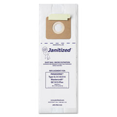Janitized® Vacuum Filter Bags Designed to Fit Panasonic Upright Type U, 36/CT