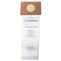 Janitized® Vacuum Filter Bags Designed to Fit Nobles Lite Trac/Tennant Viper, 100/Carton