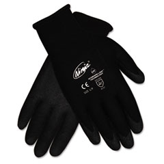 MCR™ Safety Ninja HPT PVC coated Nylon Gloves, Large, Black, Pair