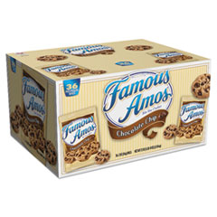 Kellogg's® Famous Amos Cookies, Chocolate Chip, 2 oz Snack Pack, 36/Carton