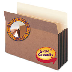 Smead® Redrope Drop Front File Pockets with Tyvek® Lined Gussets Thumbnail
