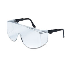 MCR™ Safety Tacoma Wraparound Safety Glasses, Black Frames, Clear Lenses