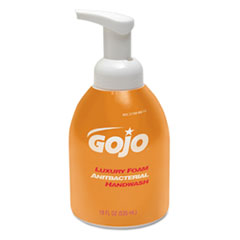 GOJO® Luxury Foam Antibacterial Handwash, Orange Blossom, 535 mL Bottle, 4/Carton