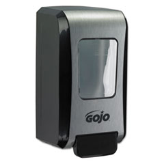 "GOJO® FMX-20 Soap Dispenser, 2000 mL, 6.5"" x 4.7"" x 11.7"", Black/Chrome, 6/Carton"