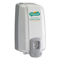 GOJO® MICRELL NXT Antibacterial Lotion Soap Dispenser, 1,000 mL, 5.13 x 3.75 x 10, Dove Gray