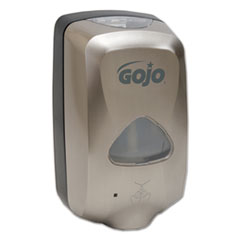 "GOJO® TFX Touch Free Dispenser, 1200 mL, 6"" x 4"" x 10.5"", Brushed Metallic"