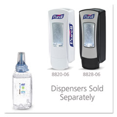 PURELL® Green Certified Advanced Refreshing Gel Hand Sanitizer, For ADX-12, 1,200 mL, Fragrance-Free