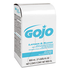 GOJO® Lather & Klean Body & Hair Shampoo Refill, Pleasantly Scented, 800 ml, 12/Carton