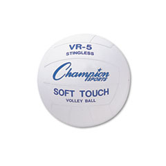 Champion Sports Rubber Sports Ball, For Volleyball, Official Size, White