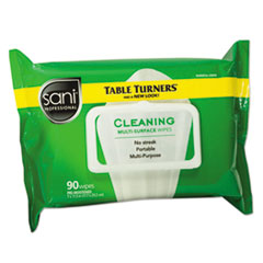 Sani Professional® Multi-Surface Cleaning Wipes, 11 1/2 x 7, White, 90 Wipes/Pack, 12 Packs/Carton
