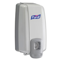 "PURELL® NXT SPACE SAVER Dispenser, 1000 mL, 5.13"" x 4"" x 10"", White/Gray"
