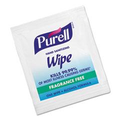 PURELL® Premoistened Sanitizing Hand Wipes, Individually Wrapped, 5 x 7, 1000/Carton