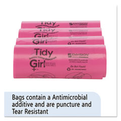 "Tidy Girl™ Feminine Hygiene Sanitary Disposal Bags, 4"" x 10"", Natural, 600/Carton"