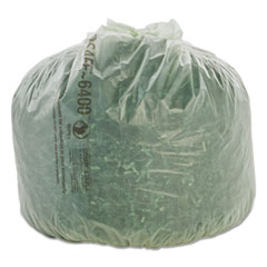 """Stout® by Envision™ EcoSafe-6400 Bags, 13 gal, 0.85 mil, 24"""" x 30"""", Green, 45/Box"""