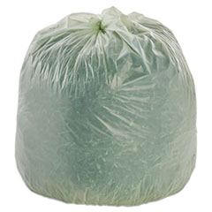 """Stout® by Envision™ EcoSafe-6400 Bags, 30 gal, 1.1 mil, 30"""" x 39"""", Green, 48/Box"""