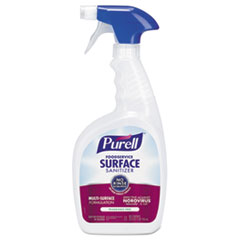 PURELL® Foodservice Surface Sanitizer, Fragrance Free, 32 oz Spray Bottle, 3/Carton