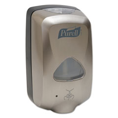 "PURELL® TFX Touch Free Dispenser, 1200 mL, 6"" x 4"" x 10.5"", Brushed Metallic"