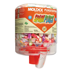 Moldex® SparkPlugs PlugStation Dispenser, Cordless, 33NRR, Asst. Colors, 250 Pairs