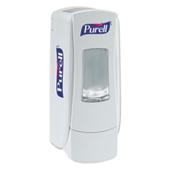 "PURELL® ADX-7 Dispenser, 700 mL, 3.75"" x 3.5"" x 9.75"", White"