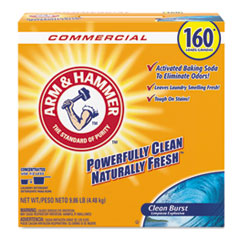 Arm & Hammer™ Powder Laundry Detergent, Clean Burst, 9.86 lb Box, 3/Carton