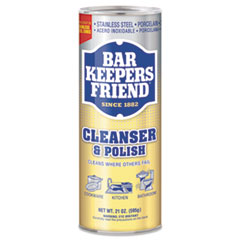 Bar Keepers Friend® Powdered Cleanser, 21 oz Can, 12/Carton