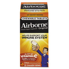 Airborne® Immune Support Chewable Tablet, Citrus, 32 Count