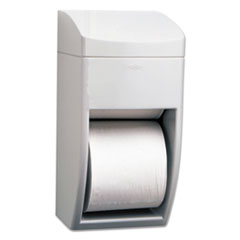 Bobrick Matrix Series Two-Roll Tissue Dispenser, 6 1/4w x 6 7/8d x 13 1/2h, Gray