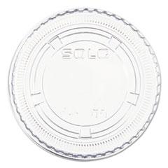Dart® Portion/Soufflé Cup Lids, Fits 3.25 oz to 9 oz Cups, Clear, 125/Pack, 20 Packs/Carton