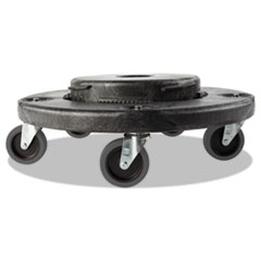 Rubbermaid® Commercial Brute Quiet Dolly, 250 lb Capacity, 18.25 dia. x 6.63h, Black