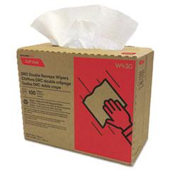 Cascades PRO Tuff-Job Double Recrepe Wipers, 9 3/4 x 16 1/2, White, 100/Box, 8 Box/Carton