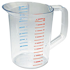 Rubbermaid® Commercial Bouncer Measuring Cup, 2qt, Clear