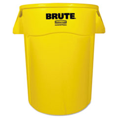 Rubbermaid® Commercial Brute Vented Trash Receptacle, Round, 44 gal, Yellow