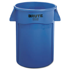 Rubbermaid® Commercial Brute Vented Trash Receptacle, Round, 44 gal, Blue
