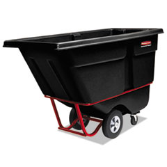 Rubbermaid® Commercial Rotomolded Tilt Truck, Rectangular, Plastic, 0.5 cu yd, 850 lb Capacity, Black