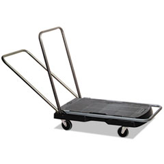 "Utility-Duty Home/Office Cart, 250 lb Capacity, 20 1/2"" x 32 1/2"" Platform, BK"