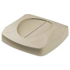 "Rubbermaid® Commercial Swing Top Lid for Untouchable Recycling Center, 16"" Square, Beige"