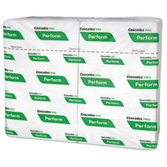 Cascades PRO Perform Interfold Napkins, 1-Ply, 6 1/2 x 4 1/4, White, 376/PK, 6016/Carton