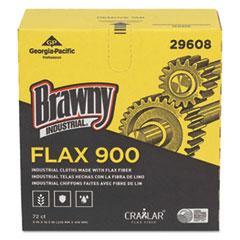 Brawny Industrial® FLAX 900 Heavy Duty Cloths, 9 x 16 1/2, White, 72/Box, 10 Box/Carton