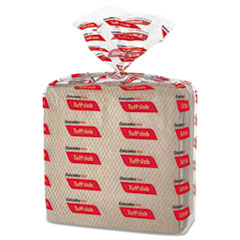 Cascades PRO Tuff-Job Paper Wipers, 12 x 13, Quarterfold, Brown, 50/Band, 16 Pack/Carton