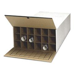 Tube-Stor Roll File, Storage Box, 24 x 37-1/2 x 12, White, 2/Ctn