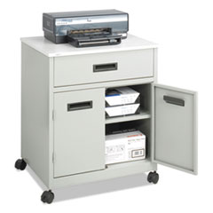 Safco® Steel Machine Stand w/Pullout Drawer, 25w x 20d x 29.75h, Gray