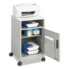 Safco® Steel Machine Stand w/Compartment, One-Shelf, 15.25w x 17.25d x 27.25h, Gray