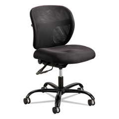 Vue Intensive-Use Mesh Task Chair, Supports up to 500 lbs., Black Seat/Black Back, Black Base