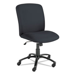 Safco® Uber Big and Tall Series High Back Chair, Supports up to 500 lbs., Black Seat/Black Back, Black Base
