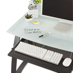 Safco® Xpressions Keyboard Tray, Steel, 23.5w x 15.25d, Black