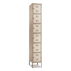 Safco® Box Locker, 12w x 18d x 78h, Two-Tone Tan