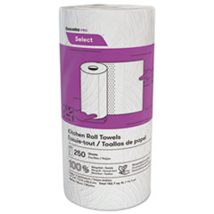 Cascades PRO Select Kitchen Roll Towels, 2-Ply, 8 x 11, 250/Roll, 12/Carton