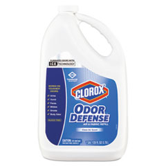 Clorox® Commercial Solutions Odor Defense Air/Fabric Spray, Clean Air,1gal Bottle,4/CT