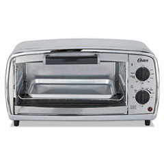 Oster® Toaster Oven, 4-Slice, 11.1 x 17.4 x 9 1/2, Stainless Steel